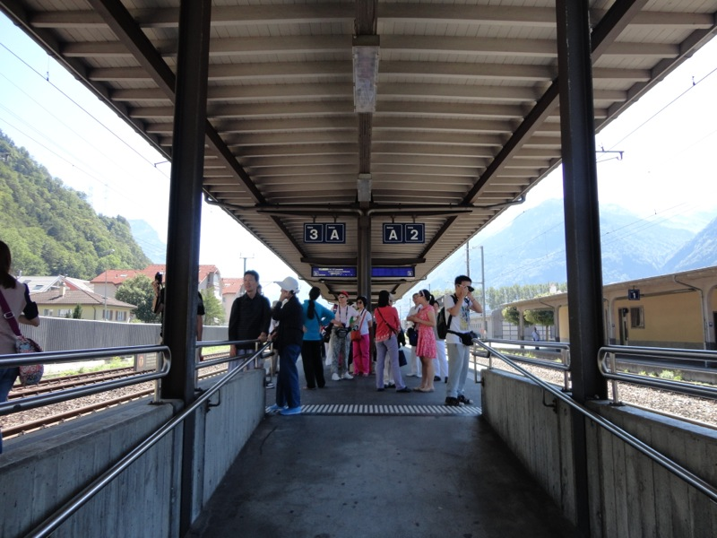 Chinese tourists in central Switzerland