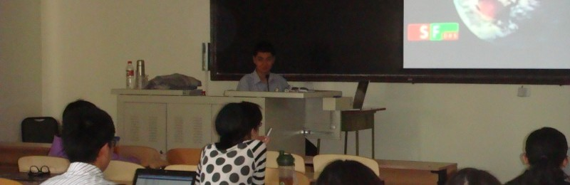 Giving A Return Talk at the Communication University of China on Swiss TV News Shows