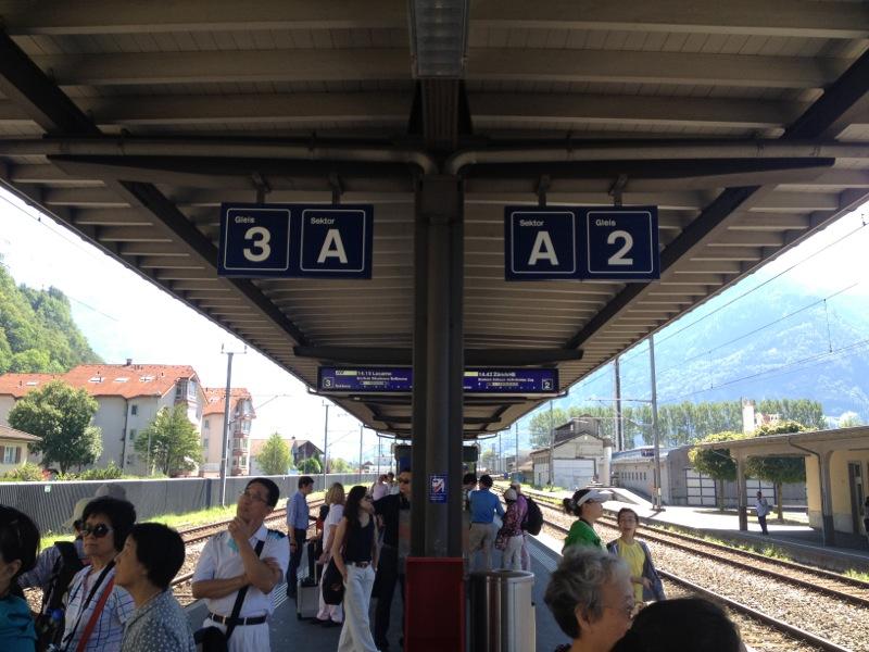 Swiss trains in central Switzerland