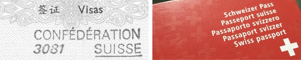 CH Visa und Pass 1000